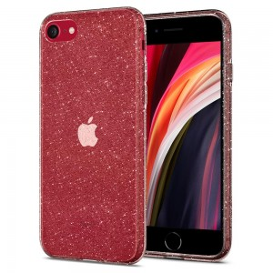 Etui SPIGEN Liquid Crystal Glitter Case do Apple iPhone 7 / 8 / SE 2020 - przeźroczyste (Brokat)