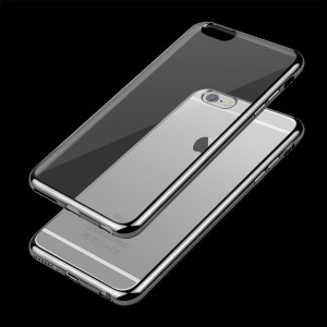 Etui Obudowa Guma Shine Frame Jelly Case do  Apple iPhone 7 i 8 (4,7) - Szare