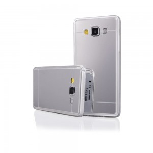 Etui Obudowa Lustro Mirror TPU Case do Samsung Galaxy Grand Prime - Srebrne