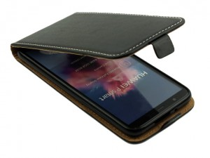 Kabura Pionowa Flexi Case do  Huawei P Smart - Czarna