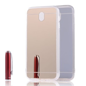 Etui Obudowa Mirror TPU Case do Samsung Galaxy J3 2017 - Zlote