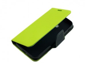 Etui Portfelik Fancy Case do Samsung Galaxy xCover 4 - Limonkowo-Granatowe