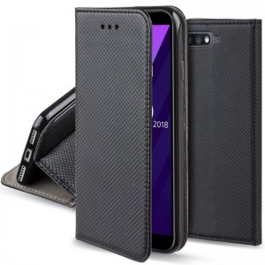 Etui Pokrowiec Smart Book Case do Huawei Y6 2018 - Czarne