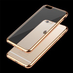 Etui Obudowa Guma Shine Frame Jelly Case do  Apple iPhone 7 i 8 (4,7) - Złote
