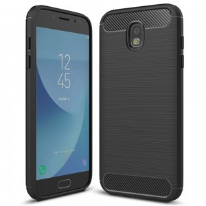 Etui Plecki Nakładka Safe Carbon Case do Samsung Galaxy J3 2017 - Czarne