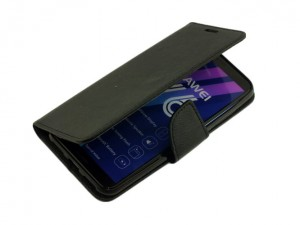 Etui Portfelowe Fancy Safe Diary Case do Huawei Y6 2018 - Czarne