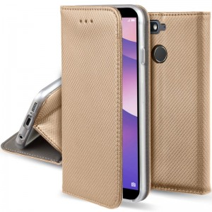 Etui Pokrowiec Smart Book Case do Huawei Y6 Prime 2018 - Złote