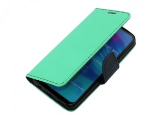Etui Portfelowe Fancy Safe Diary Case do Huawei P Smart 2019 - Miętowe