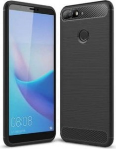 Etui Obudowa Safe Carbon Case do Huawei Y6 Prime 2018 - Czarne