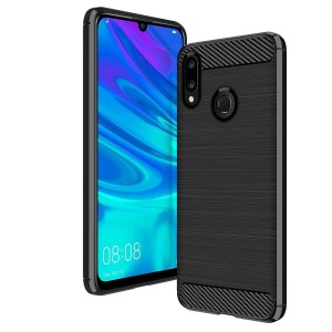 Etui Plecki Nakładka Safe Carbon Case do Huawei P Smart 2019 - Czarne