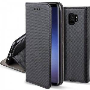 Etui Pokrowiec Smart Book Case do Samsung Galaxy S9 - Czarne