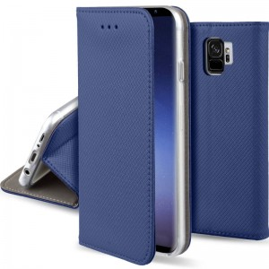 Etui Pokrowiec Smart Book Case do Samsung Galaxy S9 - Granatowe