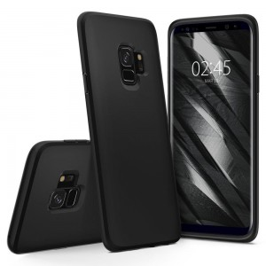 Etui nakładka SPIGEN Liquid Crystal do Samsung Galaxy S9 - Matte Black