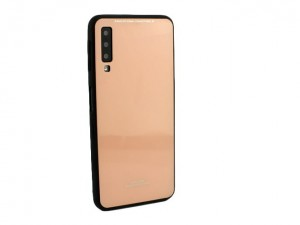 Etui Obudowa Glass Case do Samsung Galaxy A7 2018 - Różowe