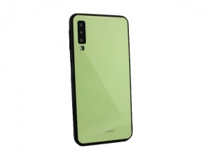 Etui Obudowa Glass Case do Samsung Galaxy A7 2018 - Limonkowe