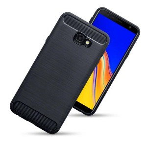 Etui Plecki Nakładka Safe Carbon Case do  Samsung Galaxy J4 + (Plus) - Czarne
