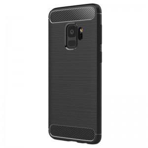 Etui Plecki Nakładka Safe Carbon Case do Samsung Galaxy S9 - Czarne
