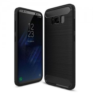 Etui Plecki Nakładka Safe Carbon Case do Samsung Galaxy S8 - Czarne