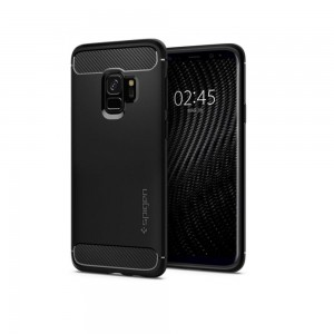 Oryginalne Etui SPIGEN Rugged Armor do Samsung Galaxy S9 Plus - czarny