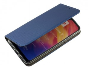 Etui Pokrowiec Smart Book Case do  Xiaomi Redmi Note 7 - Granatowy