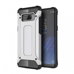 Pancerne Etui Armor Case do Galaxy Note 8 - Srebrny