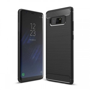 Etui Plecki Nakładka Safe Carbon Case do Samsung Galaxy Note 8 - Czarny