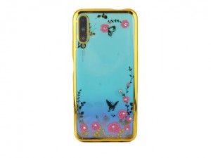 Pokrowiec Etui Flower DIAMOND do Huawei P Smart Pro - Złoty