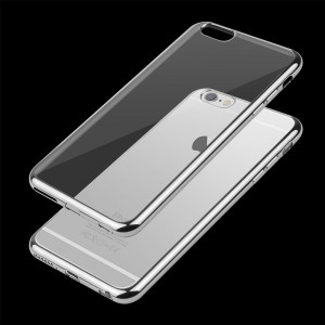 Etui Obudowa Guma Shine Frame Jelly Case do  Apple iPhone 7 i 8 (4,7) - Srebrne