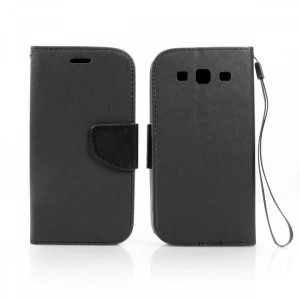 Etui Portfelik Fancy Case do Samsung Galaxy S3 - Czarne