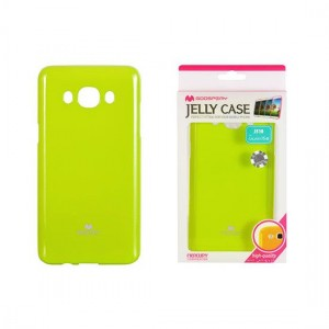 Etui Placki Mercury JELLY Case do Samsung Galaxy J5 - Limonkowe