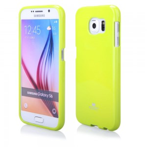 Silikonowa Nakładka Etui Mercury Jelly Case do Samsung Galaxy S6 - Limonkowe
