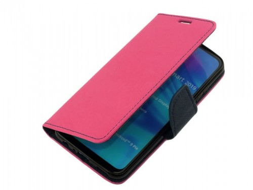 Etui Portfelowe Fancy Safe Diary Case do Huawei P Smart 2019 - Różowe