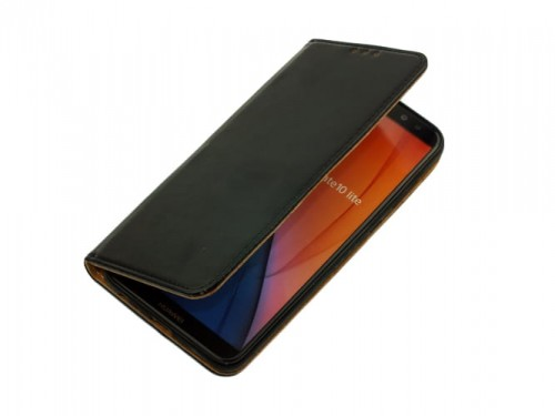 8805d6fc1aca1 Etui Pokrowiec Portfel Skóra do Huawei Mate 10 Lite - Czarne ...